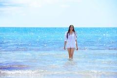 Happy woman enjoy summer vacation Royalty Free Stock Photos