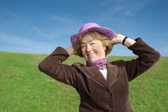 Happy woman enjoying life :) Royalty Free Stock Photos