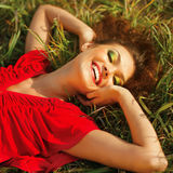 Happy Woman Enjoying Nature. Royalty Free Stock Images