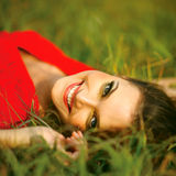 Happy Woman Enjoying Nature. Royalty Free Stock Photography