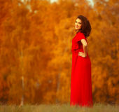 Happy Woman Enjoying Nature. Royalty Free Stock Photo