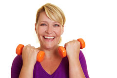 Happy woman exercising Royalty Free Stock Photo