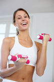 Happy woman exercising Stock Photography