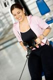Happy woman exercising Stock Images