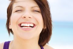 Happy woman face Royalty Free Stock Photography