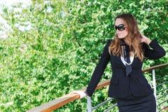 Happy woman fashion outdoor Royalty Free Stock Photos