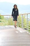 Happy woman fashion outdoor Royalty Free Stock Images