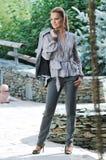 Happy woman fashion outdoor Royalty Free Stock Photo