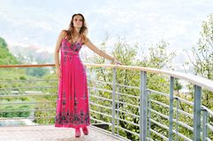 Happy woman fashion outdoor Stock Images