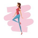 Happy woman fashion slim Stock Images