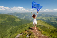 Happy woman feel freedom and enjoying the nature Royalty Free Stock Photography