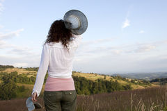 Happy woman  in field Stock Image