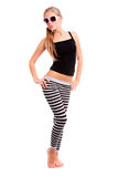 Happy woman fitness Stock Photography
