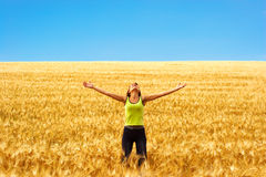 Happy woman and freedom stock photography