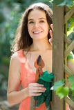 Happy woman in gardening Royalty Free Stock Photo