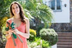 Happy woman in gardening Stock Photos
