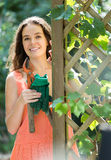Happy woman in gardening Stock Photography