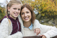 Happy Woman and girl Mother Daughter Smiling Royalty Free Stock Photography