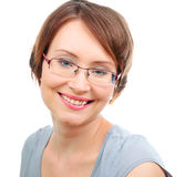 Happy woman with glasses Royalty Free Stock Photography