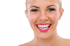 Happy woman with great smile Royalty Free Stock Photography