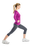 Happy Woman With Hand On Hip Exercising Royalty Free Stock Photography