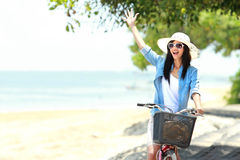 Happy woman having fun during summer Royalty Free Stock Photos