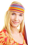 Happy woman with headband Stock Photography