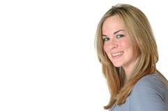 Happy Woman Headshot stock photo