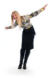 Happy woman with her arms wide open Royalty Free Stock Image
