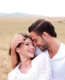 Happy woman with her boyfriend Stock Photo