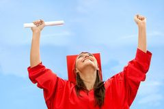 Happy woman on her graduation Stock Photography