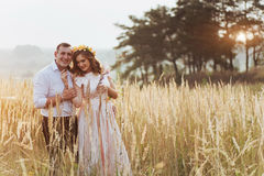 Happy woman with her husband Stock Images