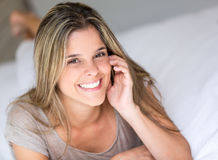 Happy woman at home Royalty Free Stock Photo