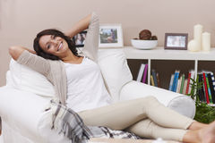Happy woman at home Royalty Free Stock Photography