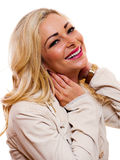 Happy woman. Image of a happy smiling woman looking into the camera royalty free stock photography