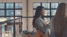 Happy woman indoors Stock Photography