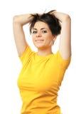 Happy woman isolated portrait Stock Photos