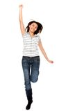 Happy woman jumping Stock Photography