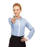 Happy woman with keys Royalty Free Stock Images