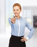 Happy woman with keys Stock Photography