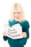 Happy woman know how to avoid stress Royalty Free Stock Images