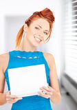 Happy woman with laptop computer. Picture of happy woman with laptop computer Royalty Free Stock Photography