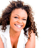 Happy woman laughing Royalty Free Stock Image