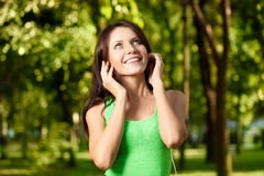 Happy woman listening the music Royalty Free Stock Photo