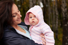 Happy woman with little baby girl Stock Photo