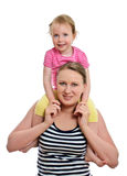 Happy woman and little girl Royalty Free Stock Images