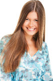 Happy woman with long hair Royalty Free Stock Photo