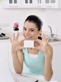 Happy woman looking at camera Royalty Free Stock Photo