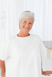 Happy woman  looking at the camera in a hospital Royalty Free Stock Photos
