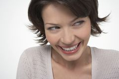 Happy Woman Looking Sideways Royalty Free Stock Photo